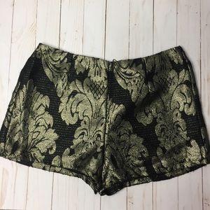 Forever 21 black gold shorts
